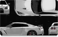 Nissan Skyline GT-R35 2008 Orthographic View
